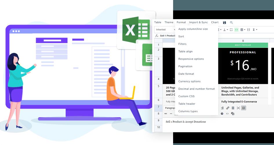Les Tableaux WordPress Faites Le Comme Sur Excel Avec Un Plugin